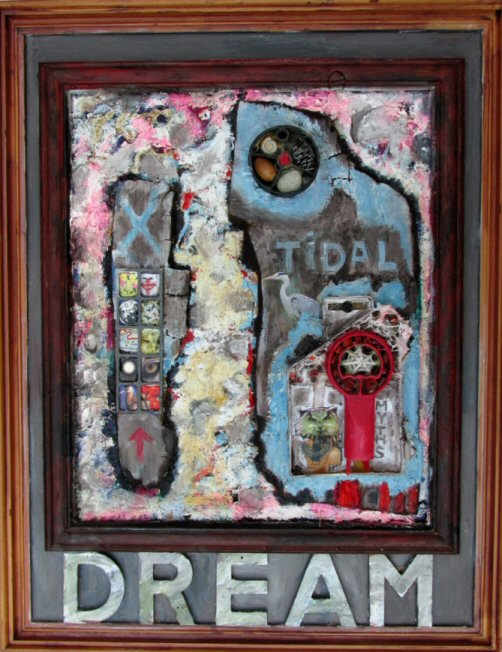 Tidal Dream. Assemblage. 45x35cms
