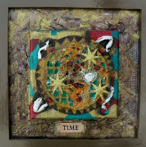 Time. Mixed media. 22x22cms
